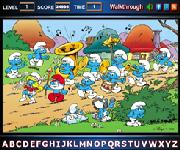 Smurfs find the alphabets
