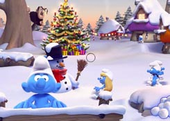Smurfs snowball fight j�t�k
