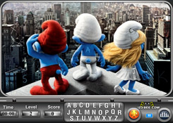 The Smurfs find the alphabets online j�t�k